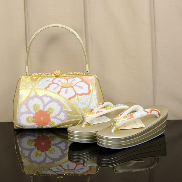 6f7c581f697b74 成人式に古典柄振袖用ゴールド草履バッグが安いおすすめ6点!:着物や帯を ...